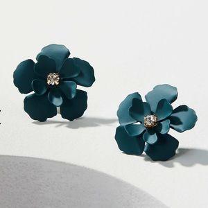 LOFT | Blossom Stud Earrings, Crisp Teal